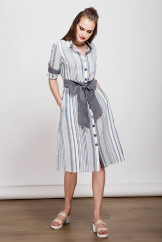 It's a Long Story Maxi Shirt Dress
