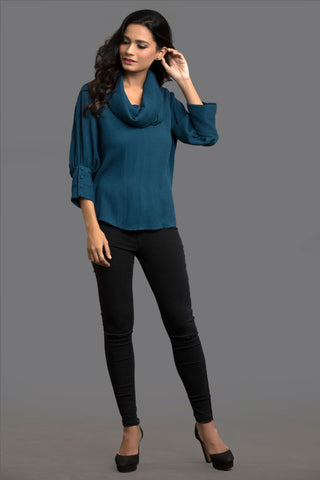 Teal Fall Fix Top