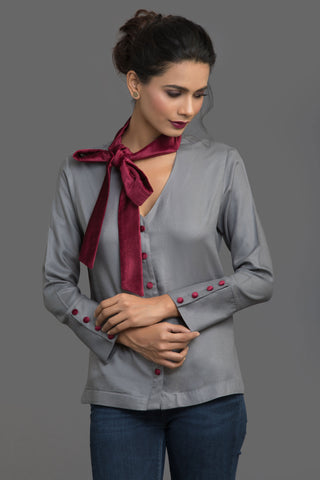 Wine Scarf Story Top