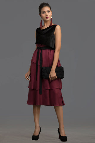 Wine Artistry Layered Dress