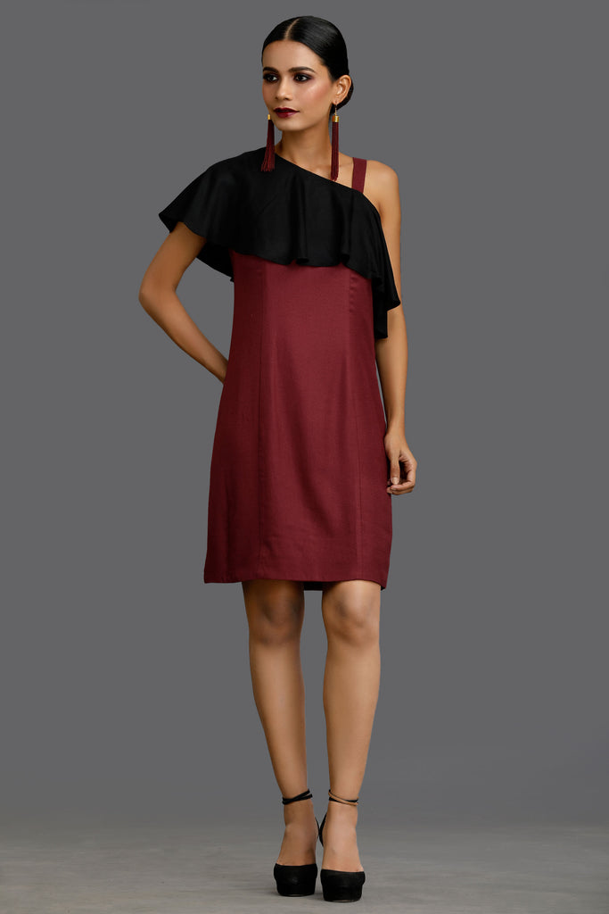 Burgundy Cabernet Club Dress