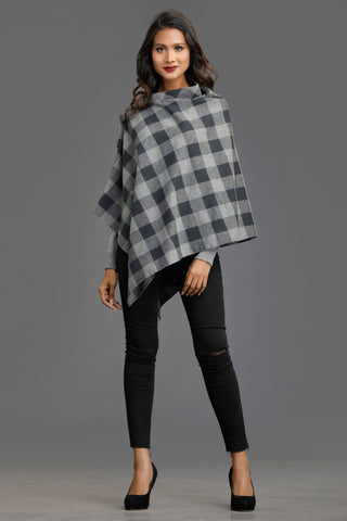 Black Fall Fable Collared Cape