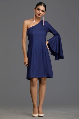 Blue Cascade Dress