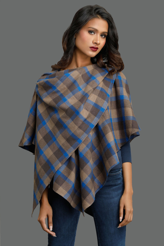 Brown Autumn Thinker Double Layered Cape
