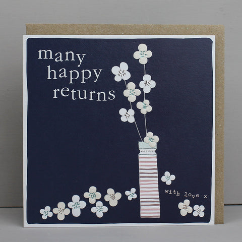 Many Happy Returns - Flower in vase (CB102)