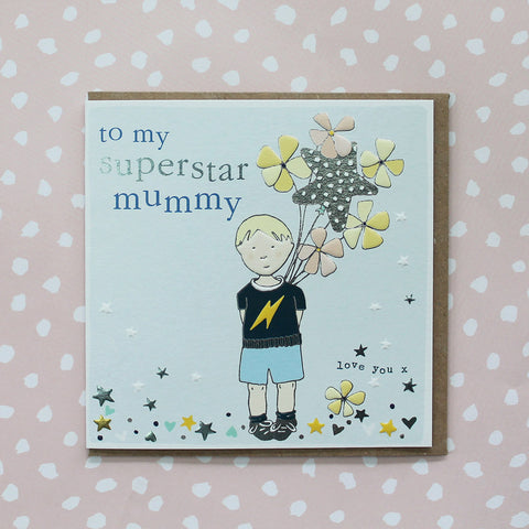 Superstar Mummy - Little boy with balloons (CB128)