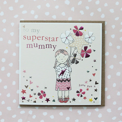 Superstar Mummy - Little girl with balloons (CB129)