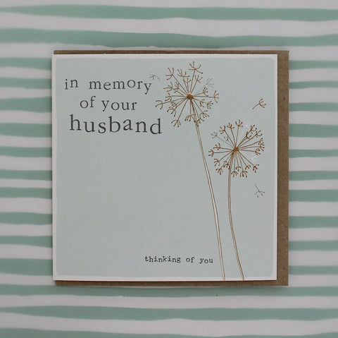 In memory of your husband  (CB145)