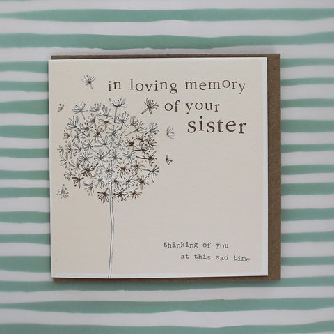 In loving memory of your sister (CB152)