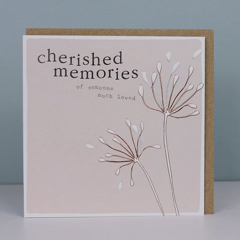 Sympathy card - Cherished Memories (CB69)