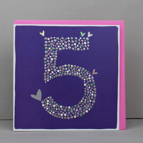 Girl Aged 5 Birthday Card (CB88)