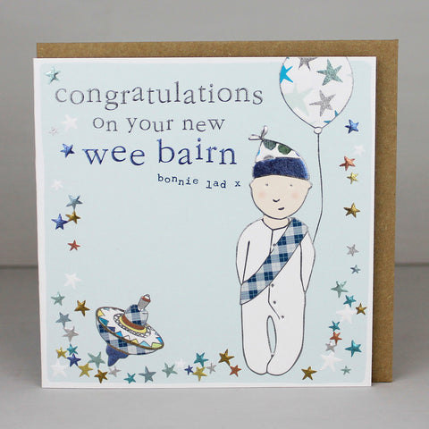 Congratulations on your new wee bairn boy (CWB02)