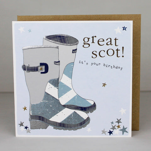 Scottish Wellie Birthday Card (CWB04)