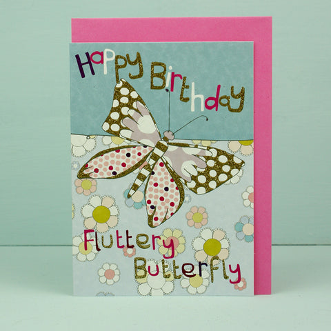 Happy Birthday Fluttery Butterfly (DD08)