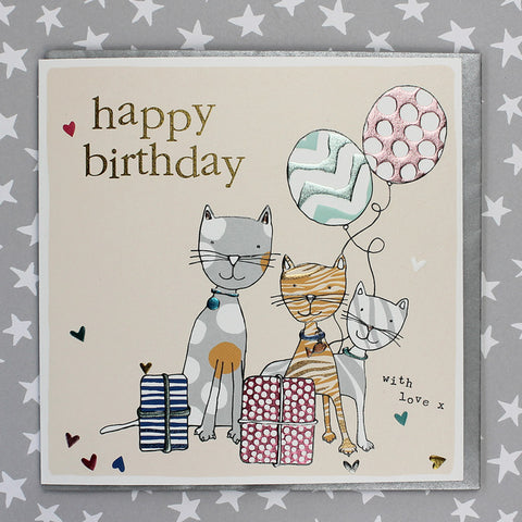 Happy Birthday - Cats (FB139)