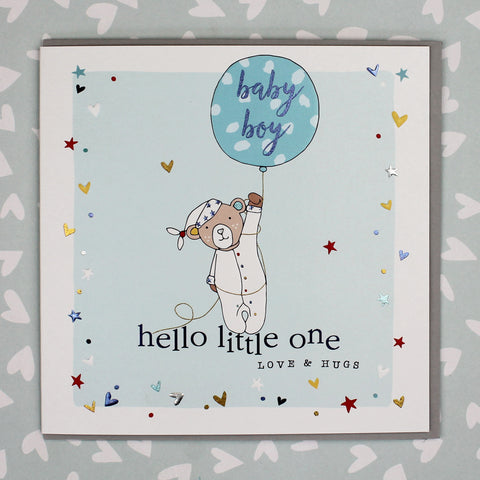 Hello Little One, New Baby Boy Card (GC01)