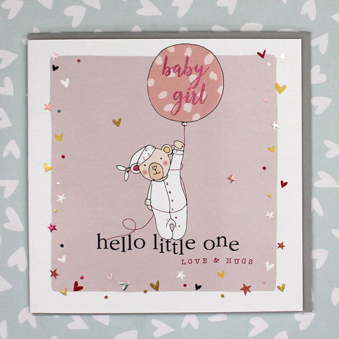 Hello Little One, New Baby Girl Card (GC02)