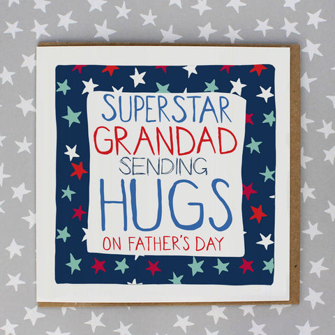 Superstar Grandpa, sending hugs on father's day (IR172)