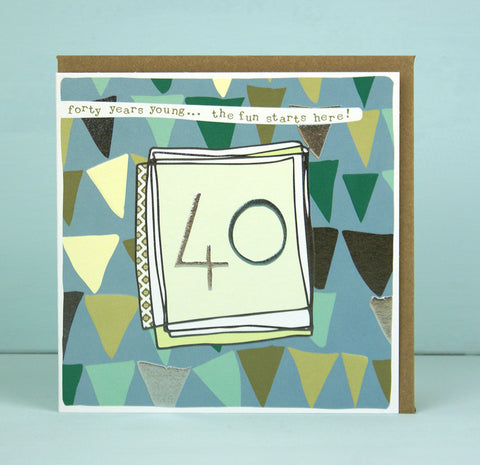 Male 40th Birthday Card (LF07)