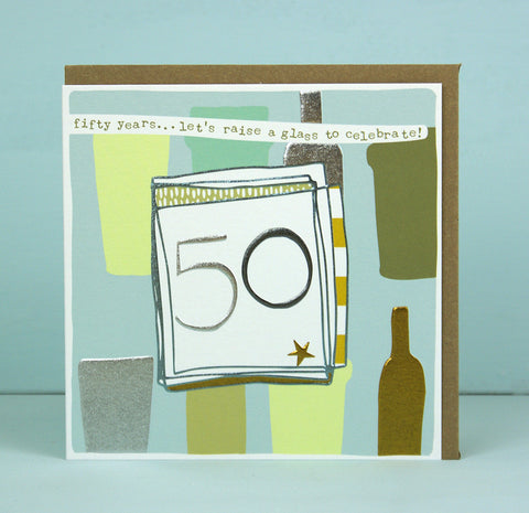 Male 50th Birthday Card (LF08)