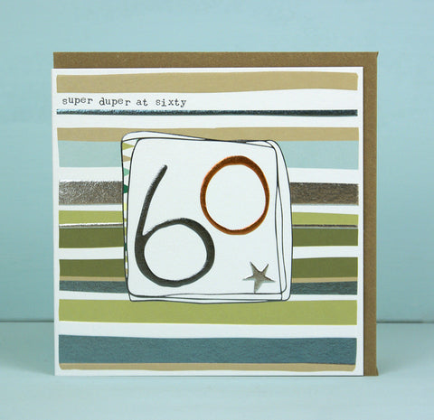 Male 60th Birthday Card (LF09)