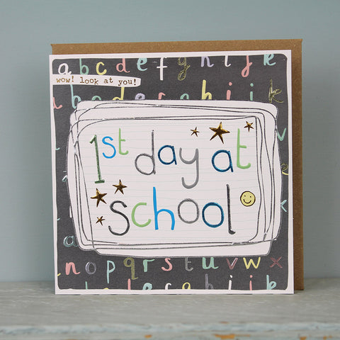 1st day at school card (LF103)