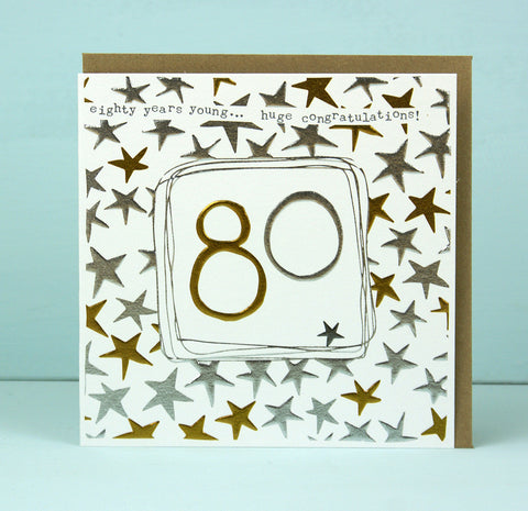 80th Birthday Card (LF21)