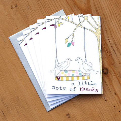 5 Mini Card Pack - a little notes of thanks (MP02)