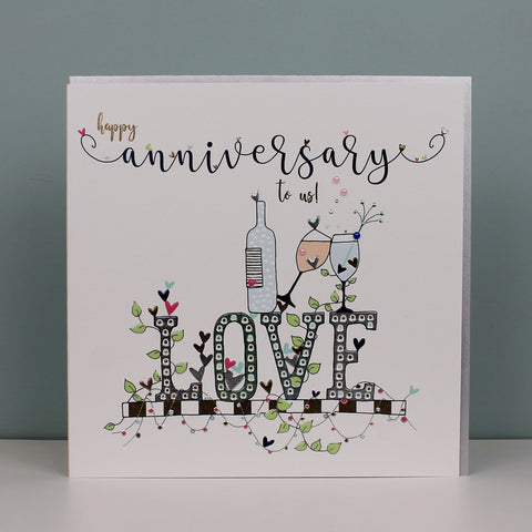 Large Happy Anniversary To Us Card (TJP02)