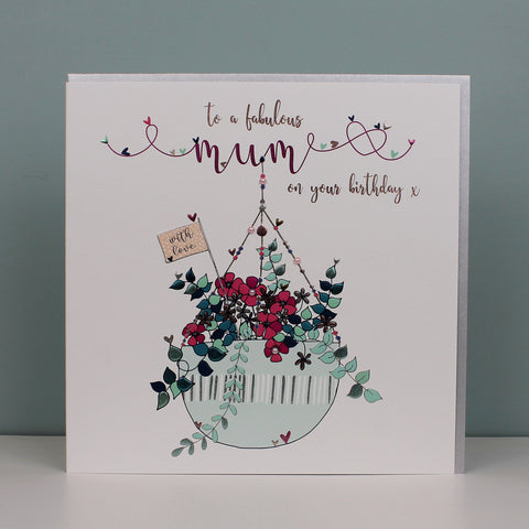Large Fabulous Mum on your birthday card (TJP06)
