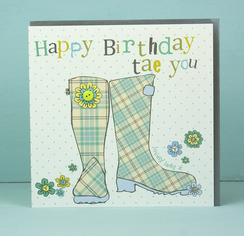 Happy Birthday Tae You Wellies (W33)