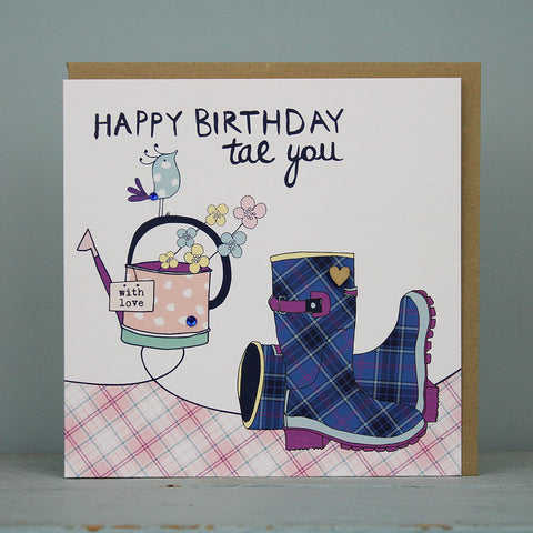 Happy Birthday Tae You - Wellies (WML05)