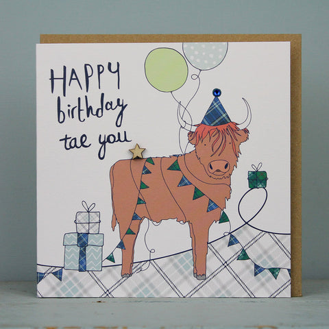 Happy Birthday Tae You - Highland Cow (WML06)
