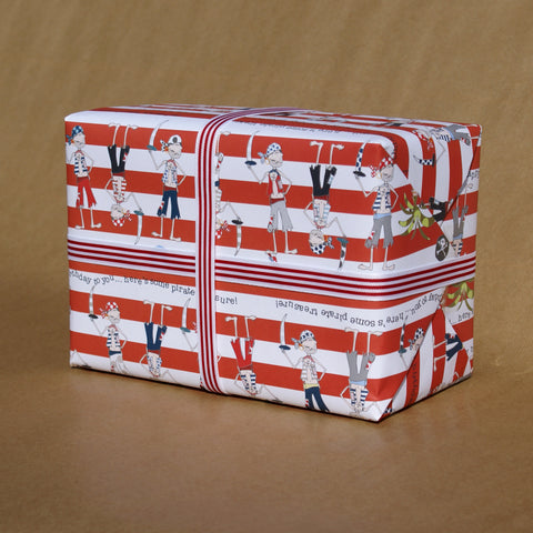Pirate Skull & Crossbones Gift Wrap (WR11)