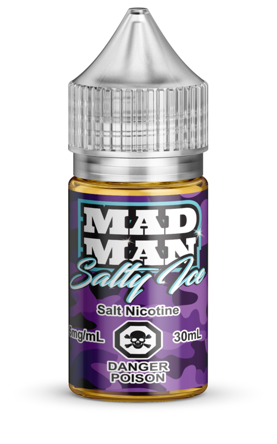 Crazy Grape ICED Salt by Mad Man e-liquid - eMixologies Canada Online Vape Shop