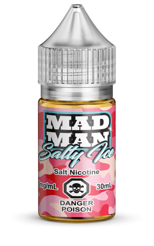 Crazy Strawberry ICED Salt by Mad Man e-liquid - eMixologies Canada Online Vape Shop