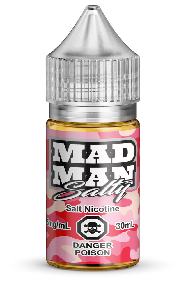 Crazy Strawberry SALT by Mad Man e-liquid - eMixologies Canada Online Vape Shop