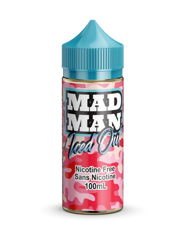 Crazy Strawberry ICED by Mad Man e-liquid - eMixologies Canada Online Vape Shop