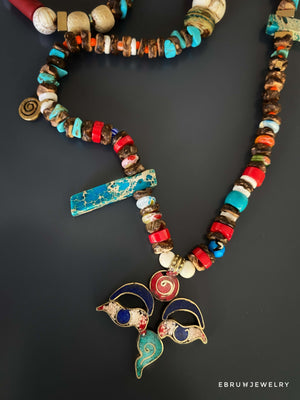 Buddha Eye Spiritual Journey Necklace - EBRU JEWELRY