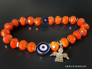 Evil Eye Angel Bracelet - EBRU JEWELRY