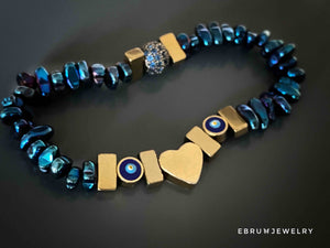 Evil Eye Love Bracelet - EBRU JEWELRY