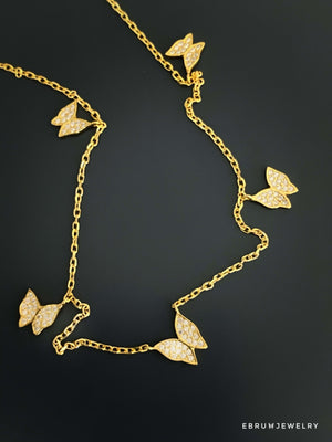 Fashion Butterfly Necklace - EBRU JEWELRY