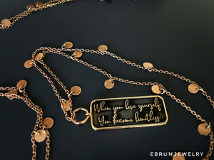 Love Yourself Necklace - EBRU JEWELRY