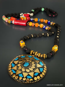 Nepal Pendant Necklace - EBRU JEWELRY