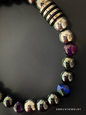 Powerful Healing Crystal Men Bracelet - EBRU JEWELRY