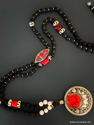 Vintage Style Afghan Necklace - EBRU JEWELRY