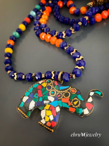 Lucky Elephant Necklace - EBRU JEWELRY