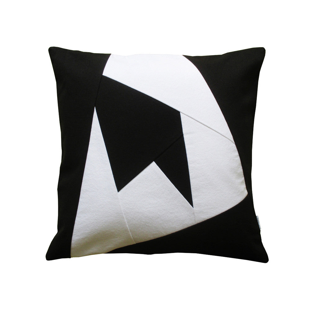 Black & White Geometric Throw Pillow St. Thomas Yacht
