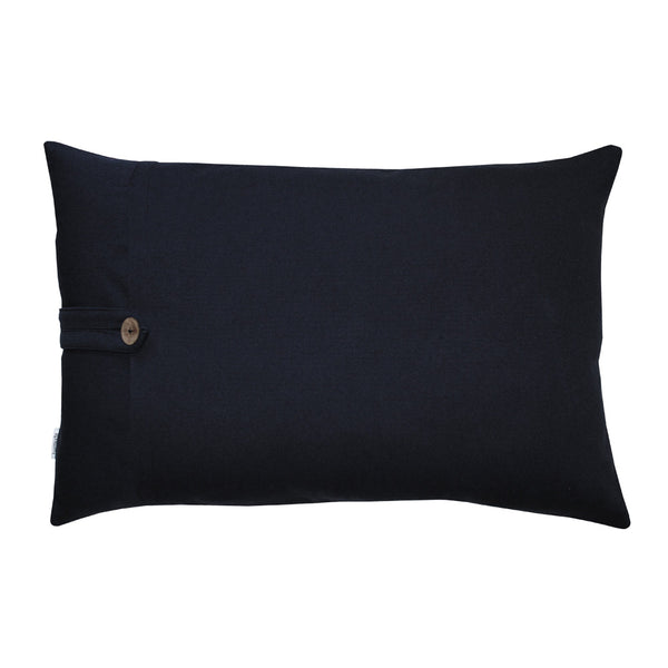 Blue back side of lumbar pillow