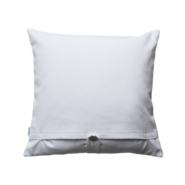 back side white throw pillow